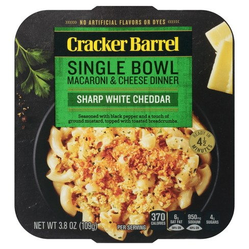 Cracker Barrel Single Bowl Mac & Cheese White Cheddar - 3.8oz - image 1 of 3