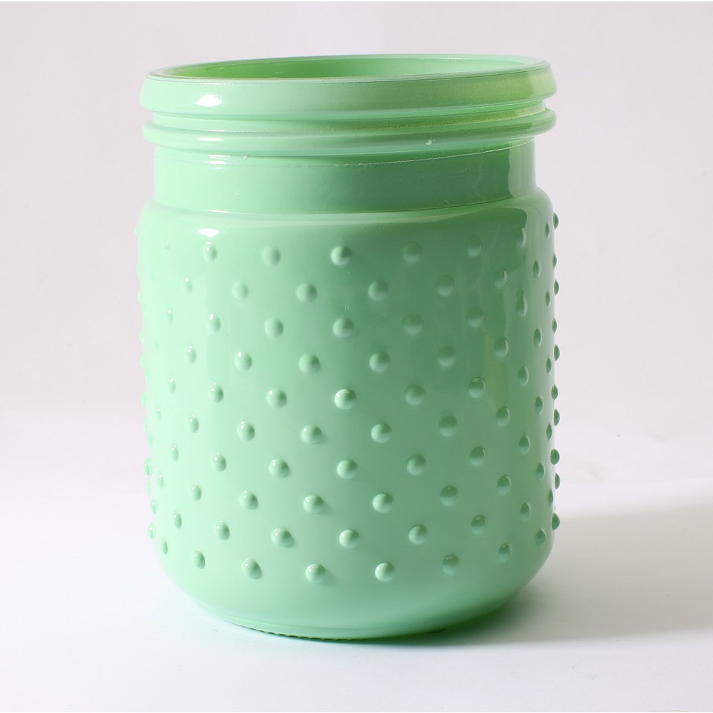 Hobnail Metal Candle Citrus Sorbet 16.8oz - Soho Brights, Green