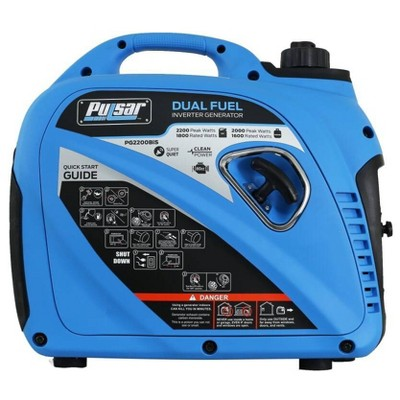 Pulsar Products PG2200BIS 2200W Dual Fuel Electric Start Inverter Generator
