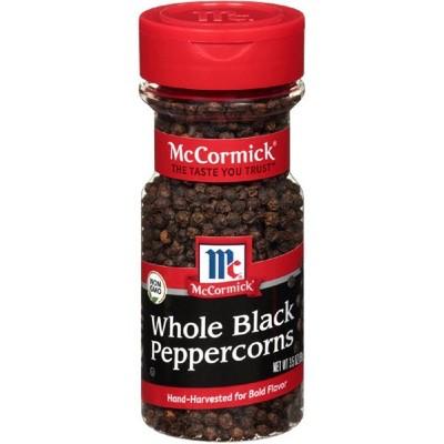 McCormick Whole Black Peppercorn - 3.5oz