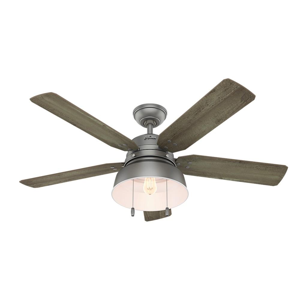 Image of 52 Mill Valley Led Lighted Ceiling Fan Matte Silver - Hunter Fan