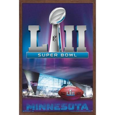"""Trends International NFL Super Bowl LII - Celebration Framed Wall Poster Prints Mahogany Framed Version 22.375"""" x 34"""""""