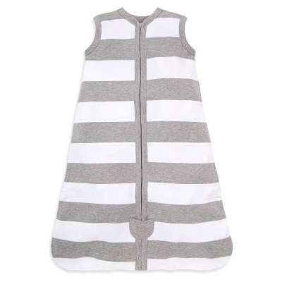 Burt's Bees Baby® Beekeeper Wearable Blanket Organic Cotton - Rugby Stripes Gray S