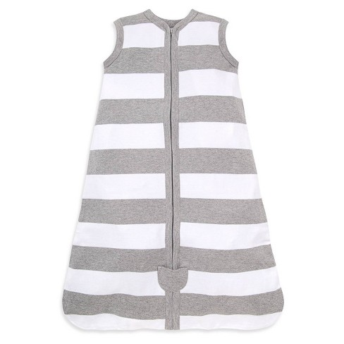 Burt's Bees Baby® Beekeeper™ Wearable Blanket Organic Cotton - Rugby Stripes - Gray - image 1 of 4
