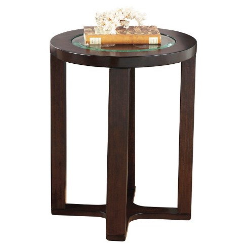 Marion Round End Table Dark Brown - Signature Design by Ashley - image 1 of 3