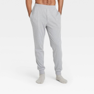 Men's Regular Fit Knit Jogger Pajama Pants - Goodfellow & Co™ Dark Gray