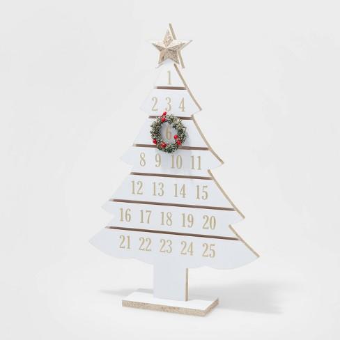 White Wash Christmas Tree Advent Calendar - Wondershop™ - image 1 of 2