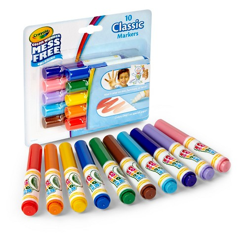 crayola color wonder markers mess free 10 classic colors target