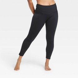 "Women's Contour High-Rise 7/8 Leggings with Ribbed Power Waist 25"" - All in Motion™"