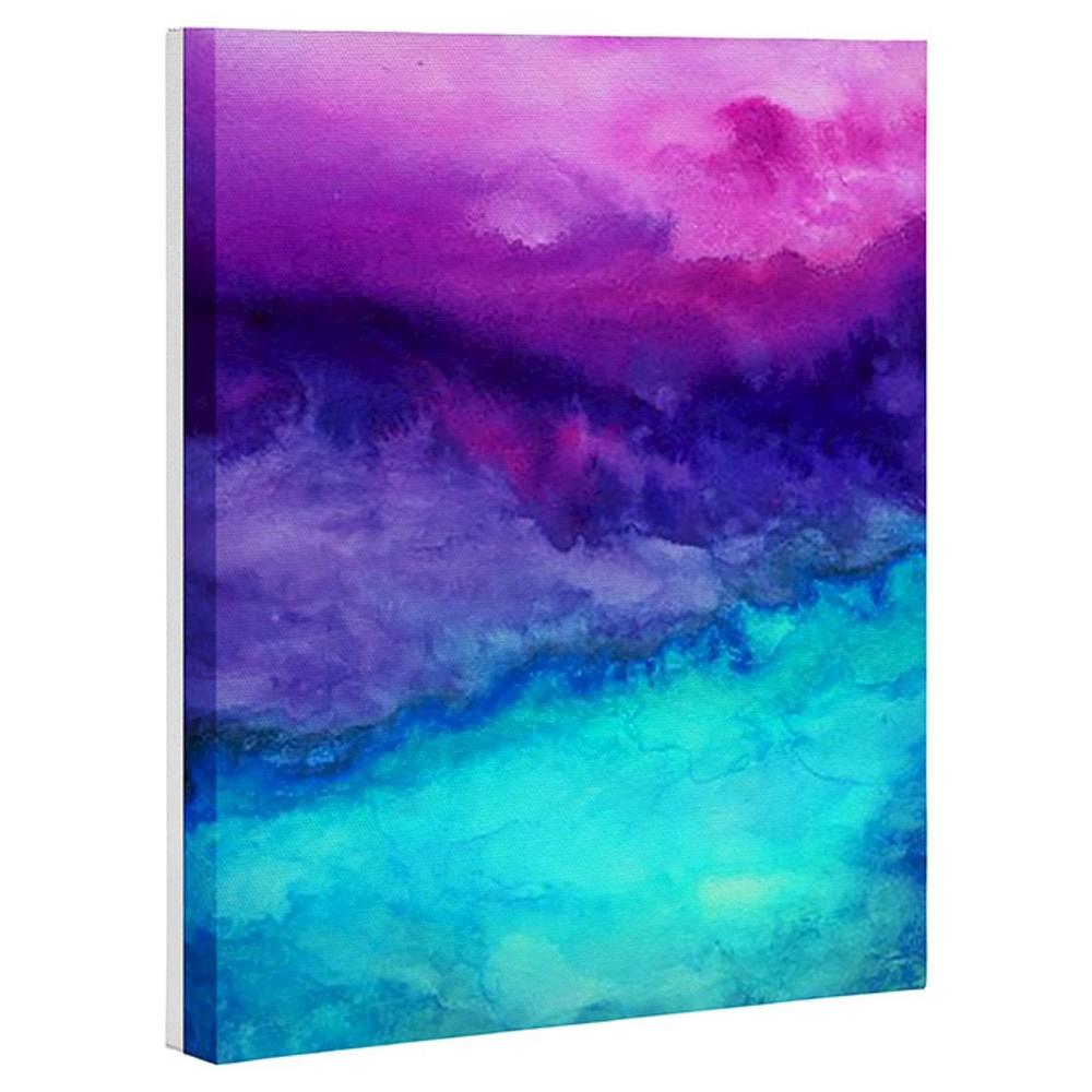 Jacqueline Maldonado The Sound Art Canvas - Deny Designs, Multicolored Purple