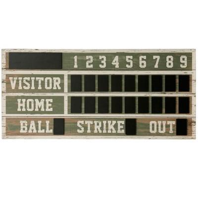 21.93  Wooden Scoreboard Decorative Wall Art - StyleCraft