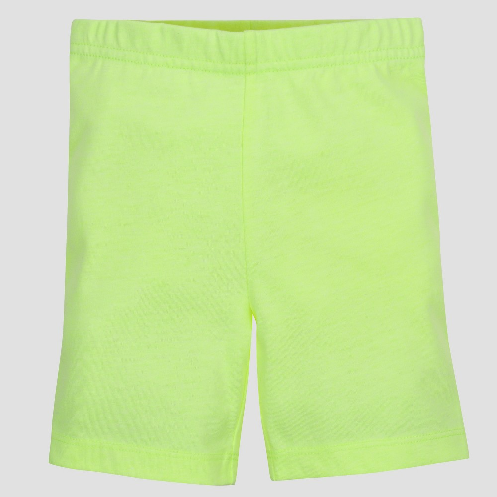 Gerber Graduates Toddler Girls' Bike Shorts - Yellow 18M