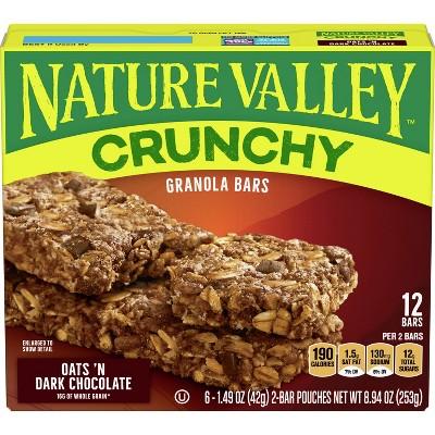 Nature Valley Crunchy Oats 'N Dark Chocolate Granola Bars - 6ct