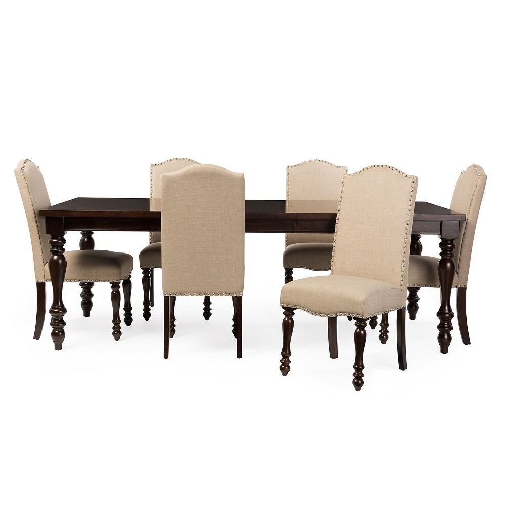 72 Zachary Chic French Vintage Extendable Top Dining Table Brown - Baxton Studio
