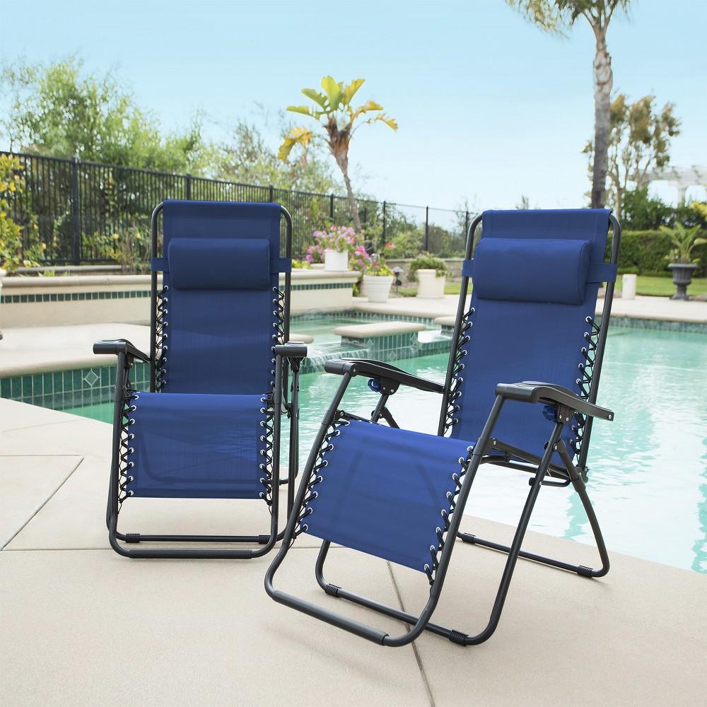Image of Caravan Global 2 Piece Infinity Zero Gravity Chair - Blue