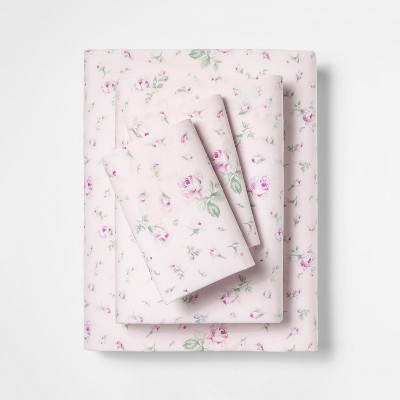 King Cotton Floral Print Sheet Set Pink - Simply Shabby Chic®