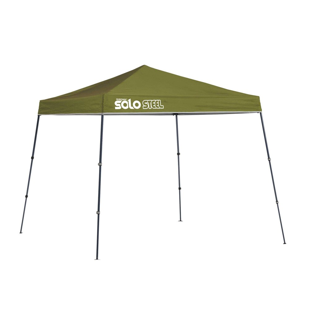 Image of Quik Shade Solo Steel 9x9 Slant Leg Canopy - Green
