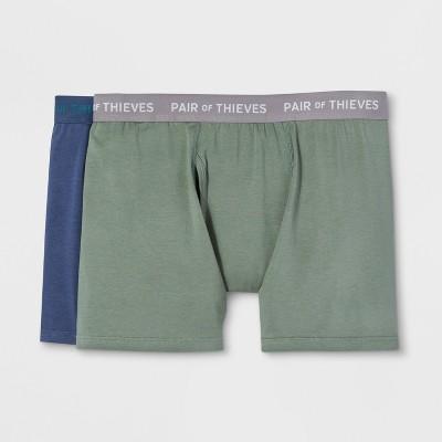 Pair of Thieves Mens SS 2pk Boxer Briefs - Navy/Green S