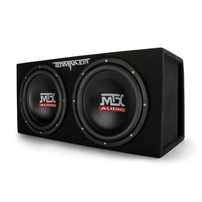 MTX TNE212DV 12-Inch 2000-Watt Max Car Audio Dual Loaded Subwoofer Box Enclosure