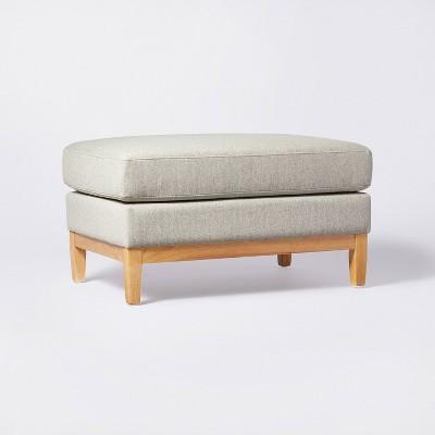 Woodland Hills Wood Base Large Ottoman - Threshold™ designed with Studio McGee