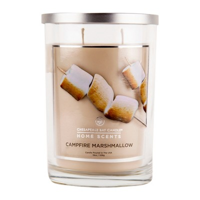 19oz Glass Jar 2-Wick Candle Campfire Marshmallow - Home Scents By Chesapeake Bay Candle