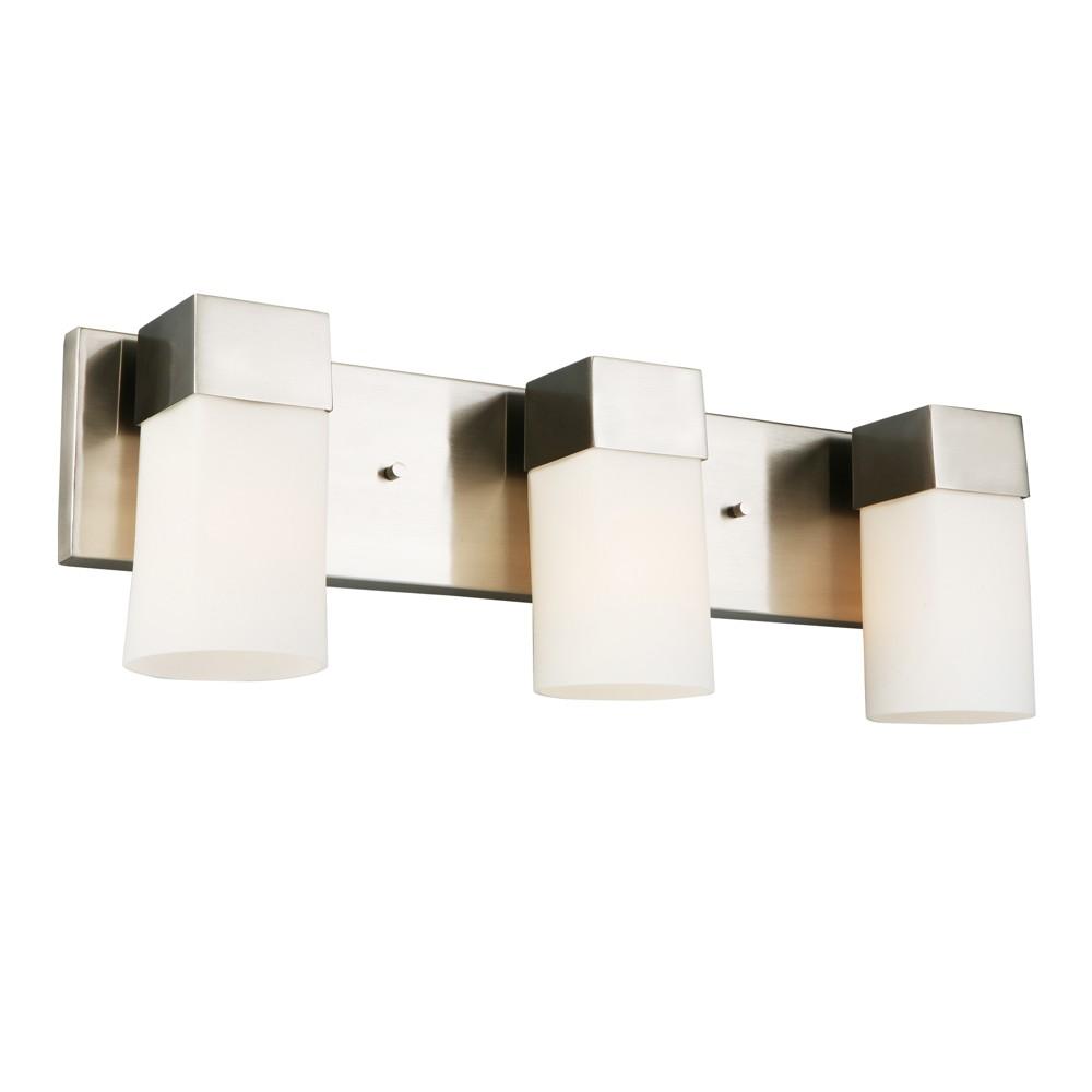 Image of Ciara Springs 3 Vanity Light Silver/White - Eglo