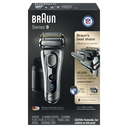 Braun Series 9 Men S Wet Dry Foil Shaver With Cleaning Station 9290cc Target