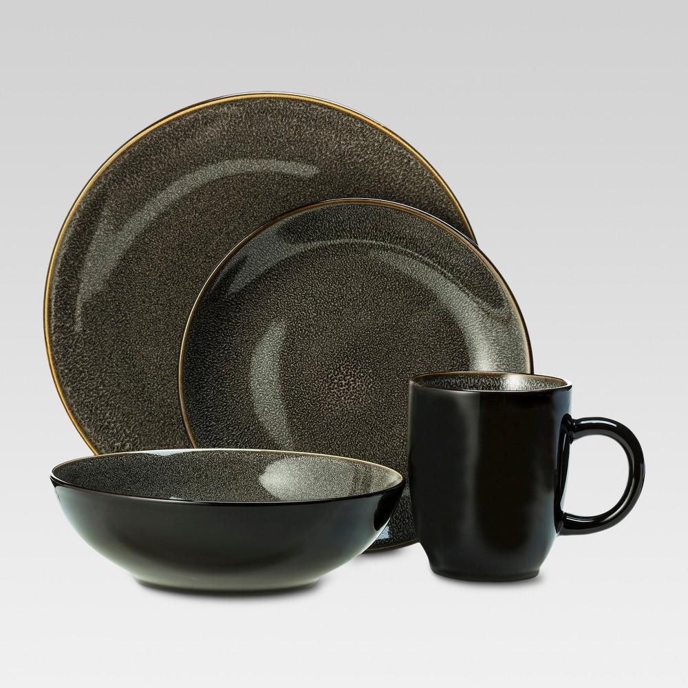 Belmont 16pc Dinnerware Set - Threshold, Gray