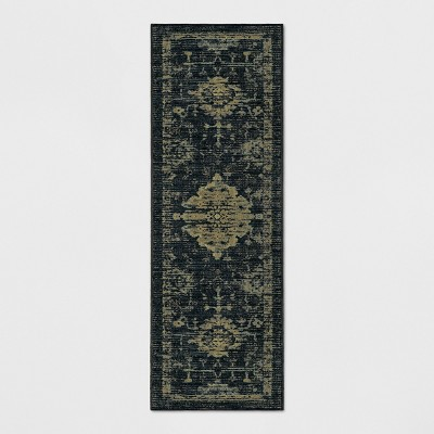 2'4 X7' Tufted Runner Rug Vintage Distressed Indigo - Threshold™