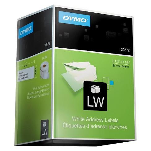 dymo address labels 1 1 8 x 3 1 2 white 520pk target