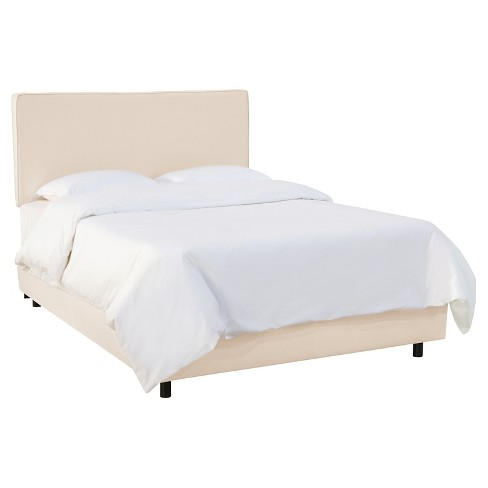 Austin Bed Shantung Parchment Twin - Skyline Furniture® - image 1 of 2