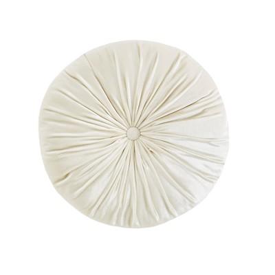 Ivory Velvet Round Cushion Pillow