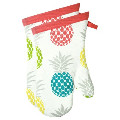 "13"" Pineapple 2pk Oven Mitt - MUkitchen"