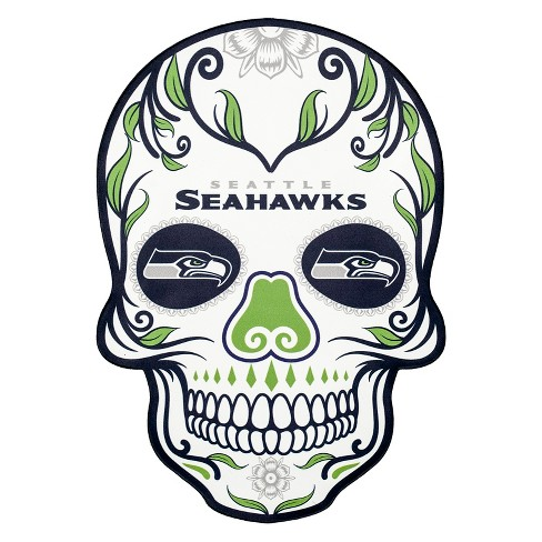 NFL Seattle Seahawks Small Outdoor Skull Decal - image 1 of 2
