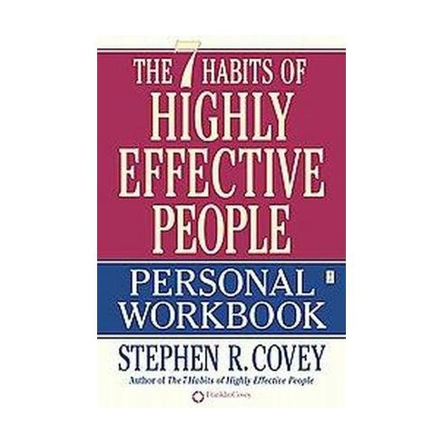 7 Habits Of Highly Effective People Personal Workbook Paperback Stephen R Covey Target