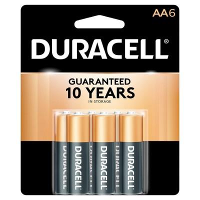 Duracell CopperTop AA Alkaline Batteries - 6 ct