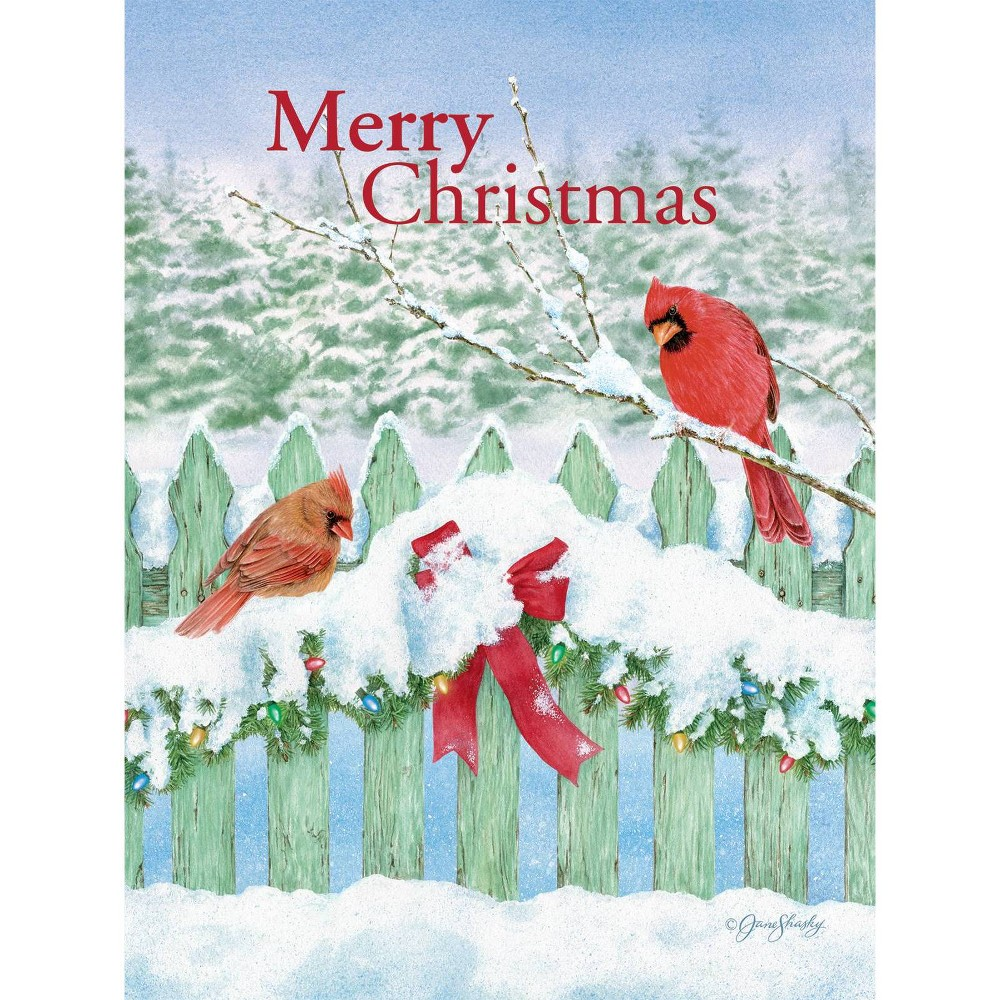 Image of 12ct Garland Fence Boxed Christmas Cards
