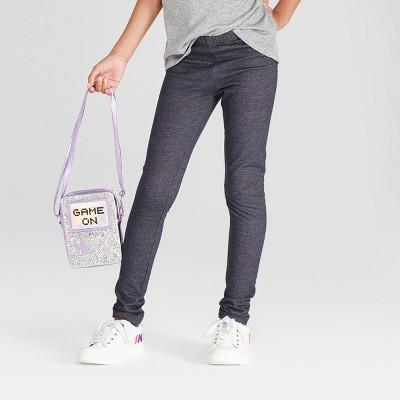Girls' Leggings - Cat & Jack™ Faux Denim M