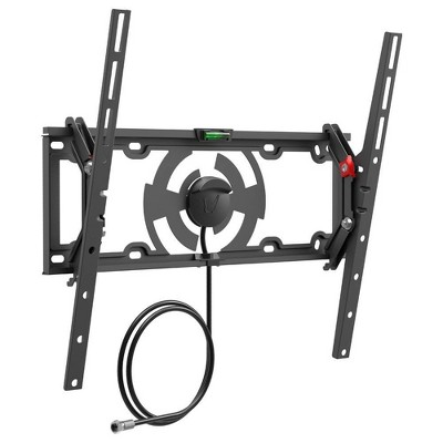 "Barkan 19 - 65"" Tilt Flat / Curved TV Wall Mount with Integrated HDTV Indoor Antenna Black"