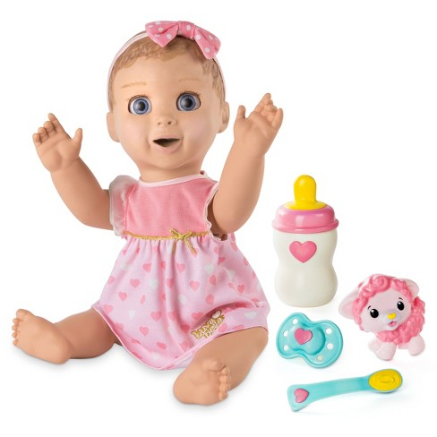 6de86fe922bf2 Luvabella Responsive Baby Doll With Realistic Expressions And Movement -  Blonde Hair   Target