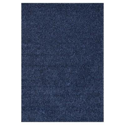 Blue Solid Loomed Area Rug - (8'x10')- nuLOOM