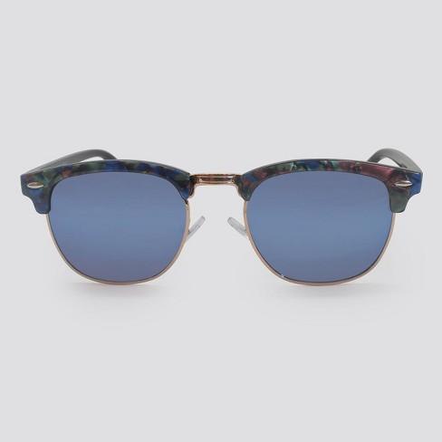 Women's Retro Plastic Metal Combo Silhouette Square Sunglasses - Wild Fable™ - image 1 of 2