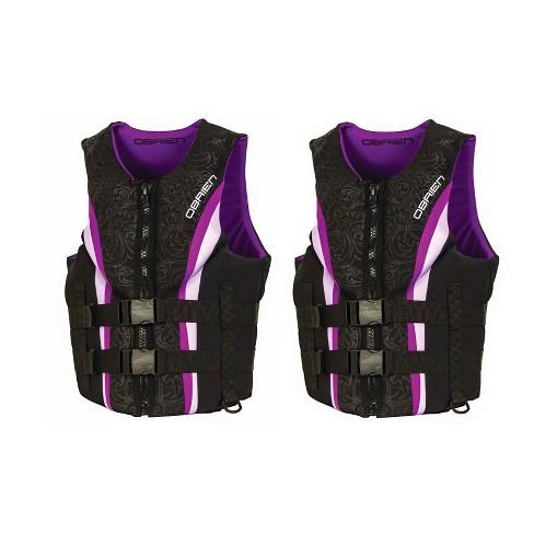 OBrien Womens Neo Impulse Wakeboard Life Vest, Purple, Adult Medium (2 Pack) - image 1 of 2