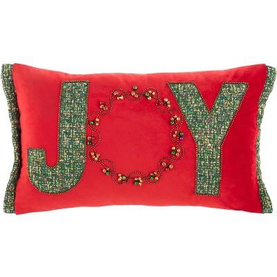 "Cinnamon Pillow - Green/Red - 12"" X 20"" - Safavieh"