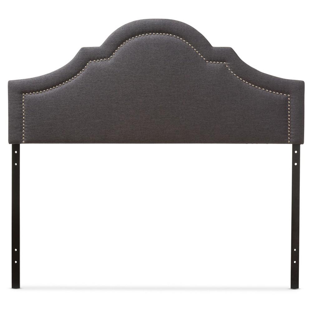 Rita Modern Fabric Upholstered Headboard King Dark Gray - Baxton Studio