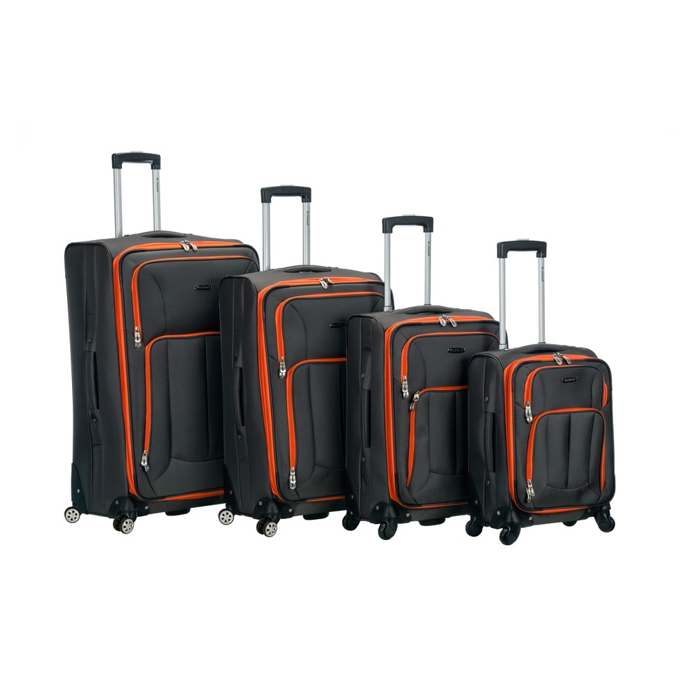 Rockland Impact 4pc Spinner Luggage Set - Charcoal (Grey)
