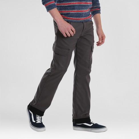 91822e35a Wrangler Boys' Fleece Lined Synthetic Pants - Dark Gray : Target