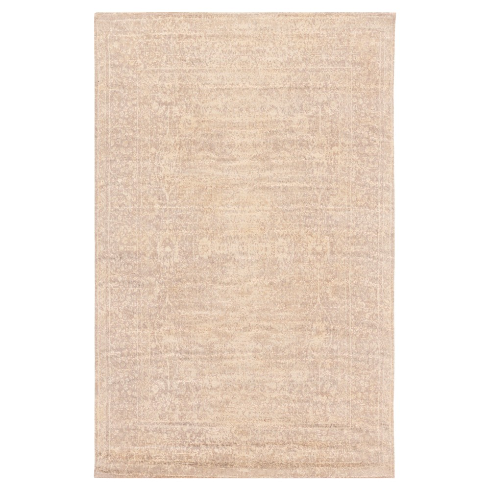 Cream (Ivory) Damask Loomed Accent Rug (2'x3') - Surya