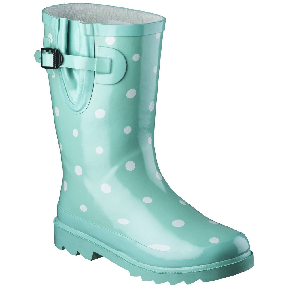 Girls Novel Dot Rain Boot Mint 3