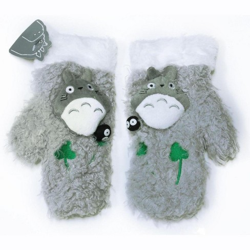 Funluck My Neighbor Totoro Gray Plush Child Mittens - image 1 of 1